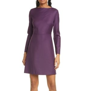 Theory Kamillina Longsleeve Dress Plum Sz 2